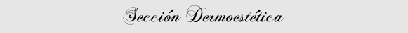 Sección Dermoestética